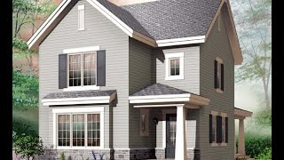 Проект дома двух этажного без гаража.