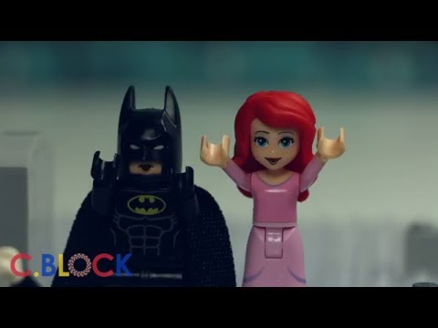Ariel and Batman Halloween Prank With Joker Funny Lego Stop Motion Animation Cartoon