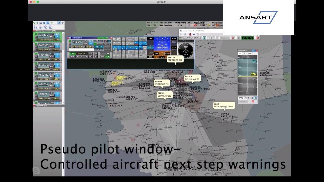 Download ATC SIM: Episode 20 Pseudo Pilot Window Controlled Aircraft Next Step Warnings