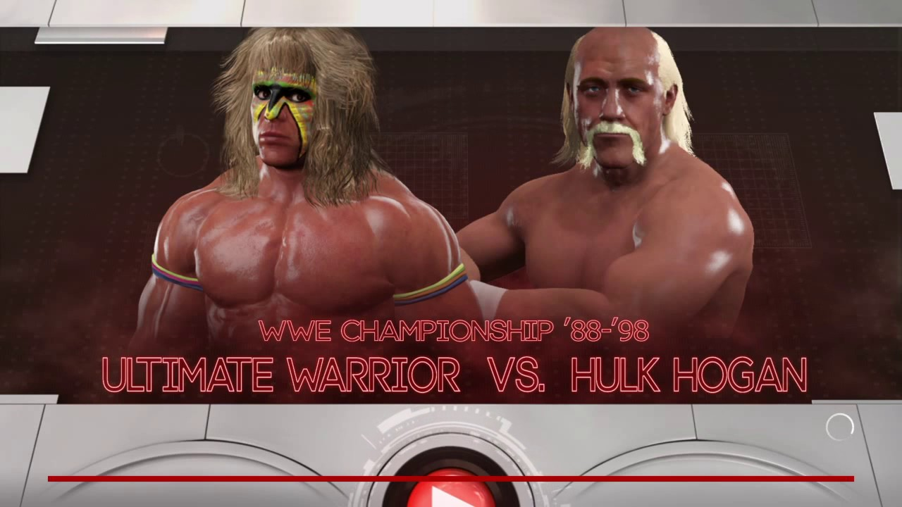 wwe 2k17 WrestleMania 6 The Ultimate Warrior vs Hulk Hogan ...