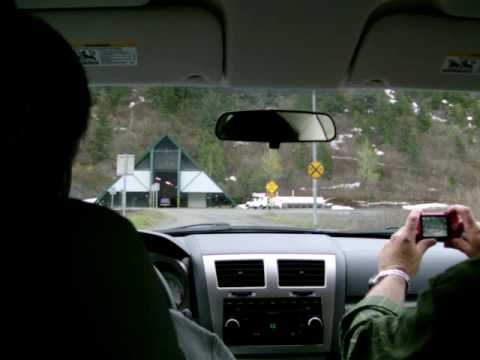 Driving through the Anton Anderson Memorial Tunnel. Travel Video