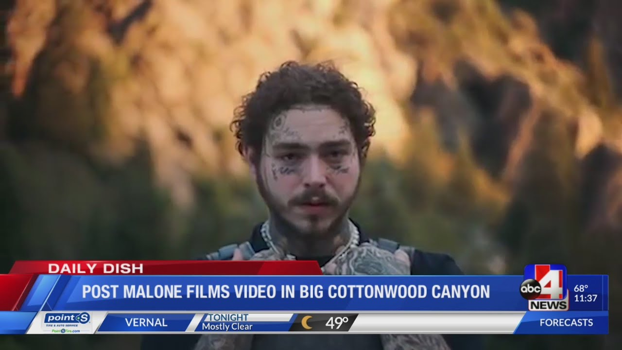 Post Malone films video in Big Cottonwood Canyon