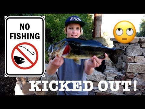 GETTING KICKED OUT OF PRIVATE PONDS!   - PALM SPRINGS BASS FISHING