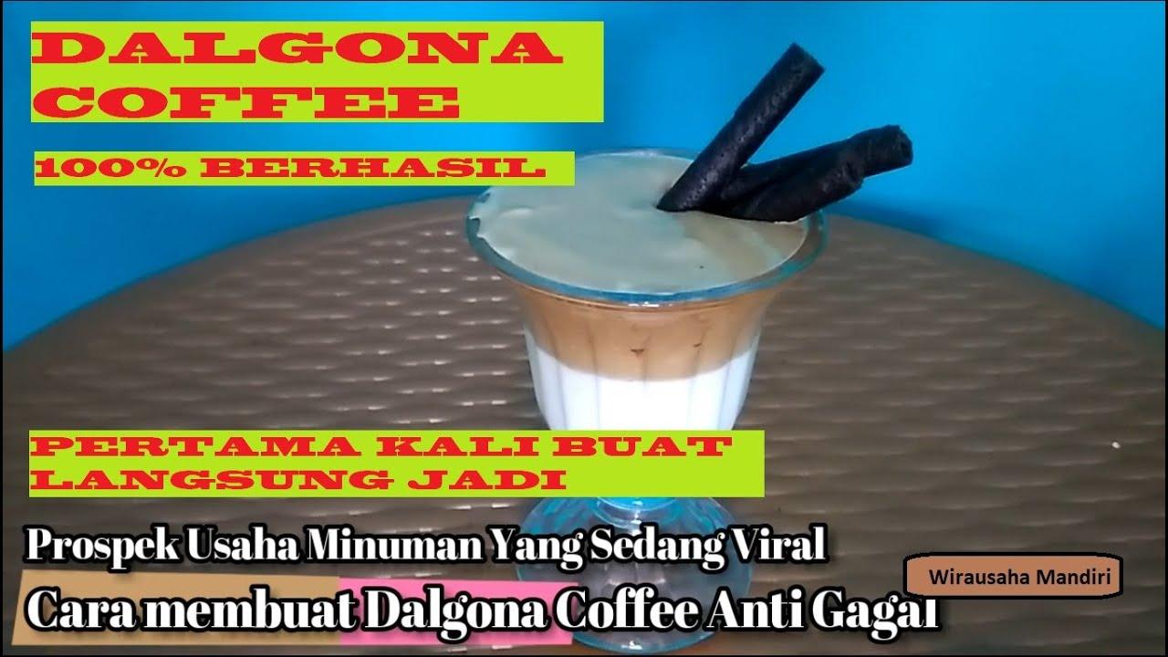 CARA MEMBUAT DALGONA COFFEE ANTI GAGAL #dirumahaja # ...