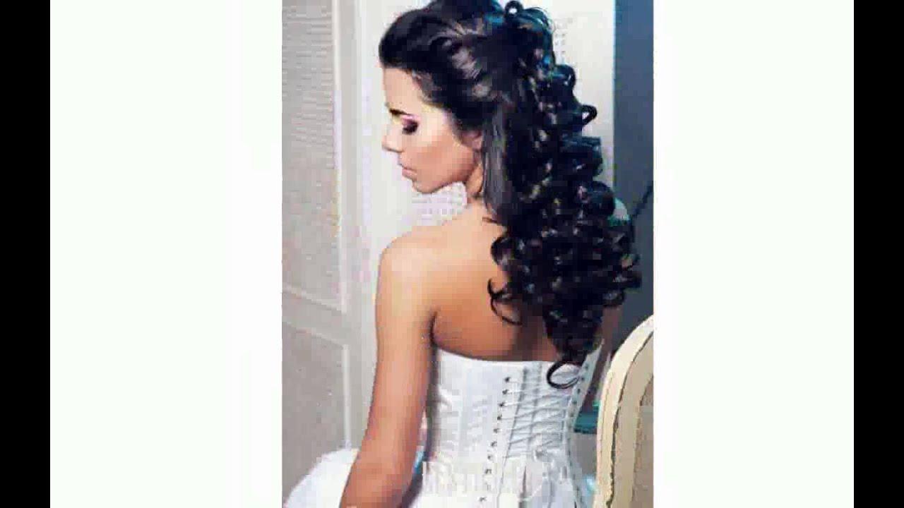 свадебная прическа на распущенные средние волосы