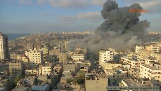 Israeli airstrikes on Gaza City | August 9th 2018
