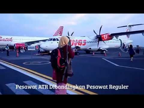 Naik Pesawat Baling-baling ATR 72-600 Wings Air Semarang Surabaya