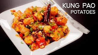 Kung Pao Potatoes Recipe - Chilli Potato Chinese Indo Style - CookingShooking