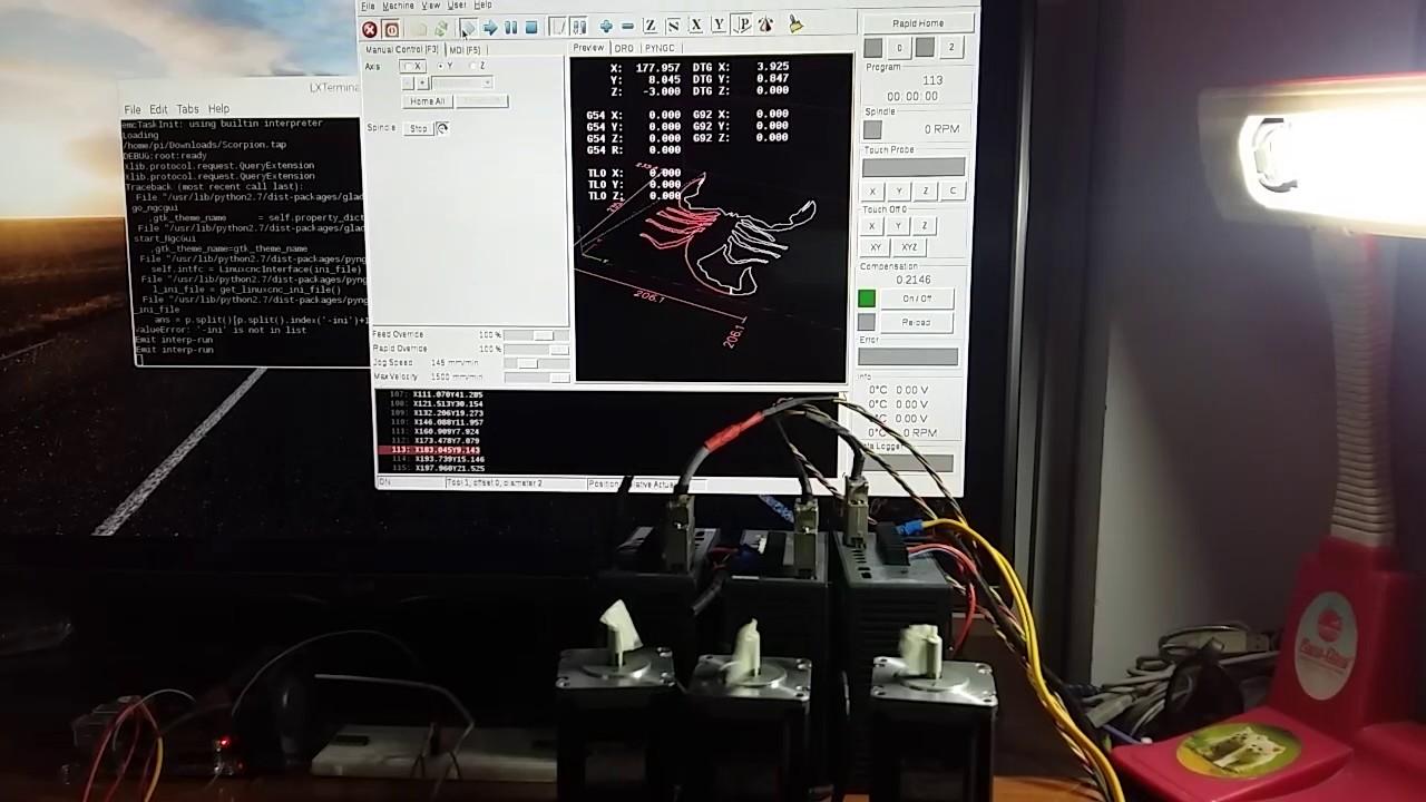 Test Raspberry PI 2 Linuxcnc(Machinekit)