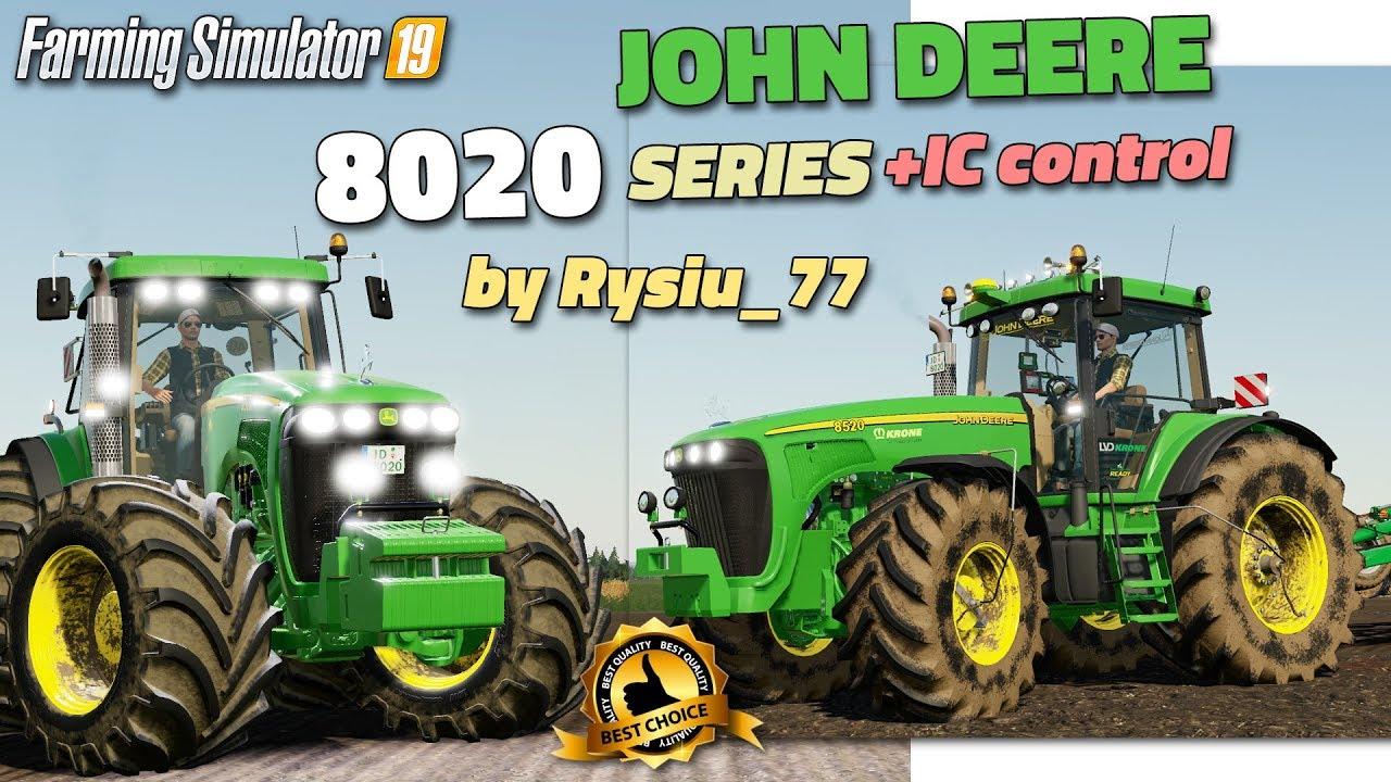 Fs19 John Deere 8020 Series V2 By Rysiu 77 Review Youtube