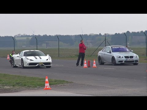 600HP BMW M3 E92 G-POWER vs 605HP Ferrari 458 Speciale