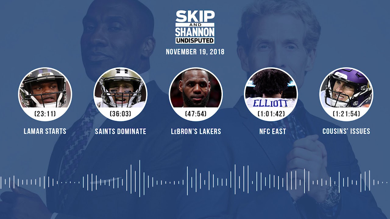 UNDISPUTED Audio Podcast (11.19.18) with Skip Bayless, Shannon Sharpe & Jenny Taft | UNDISPUTED