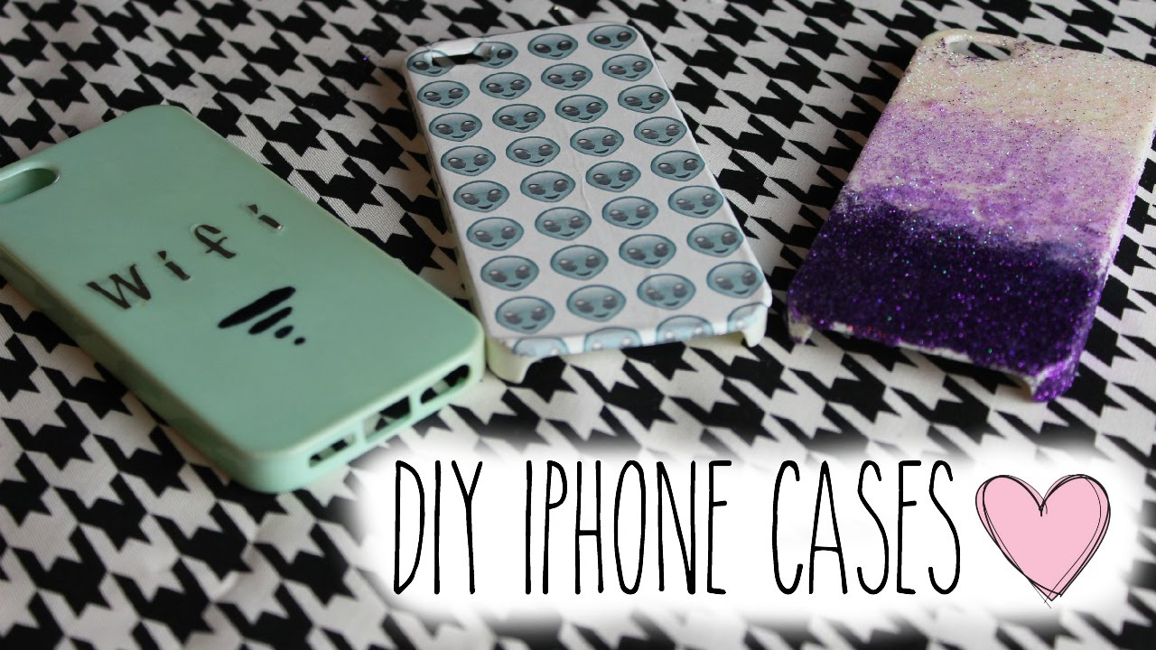 Diy iphone cases youtube for Homemade iphone case