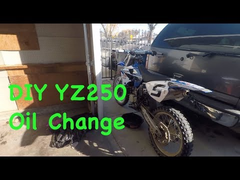 YZ250 Oil Change DIY