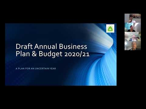 Wed 13 May Public Meeting Recording - Draft 2020-21 - Annual Business Plan and Budget
