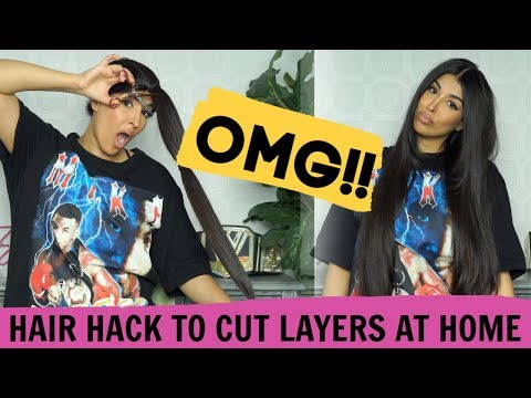 CUT YOUR OWN HAIR IN LAYERS - EASY for BEGINNERS #diy