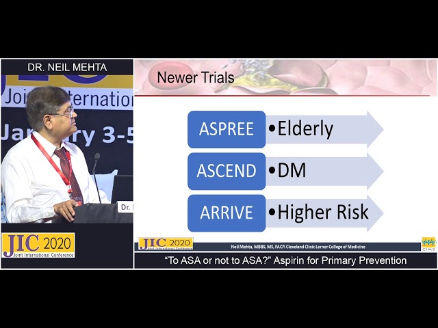 Dr.Neil Mehta - To Give or Not to Give Aspirin for Primary Prevention in Cardiovascular Disease