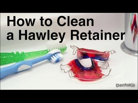 how to clean a hawley retainer wire and plastic retainer youtube. Black Bedroom Furniture Sets. Home Design Ideas