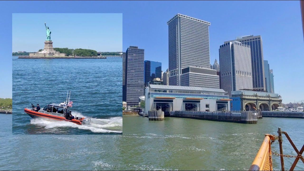 [4k] New York Walk Lower Manhattan FREE Staten Island Ferry to NY Supreme Court