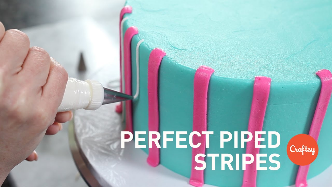 perfect piped buttercream stripes piping tutorial with cake decorator marianne carroll