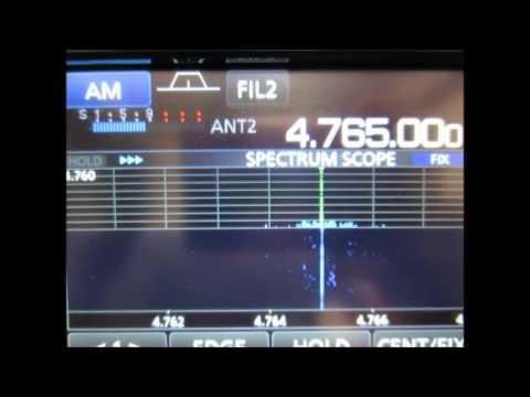 ICOM IC-R8600 4765kHz Tajik Radio 1