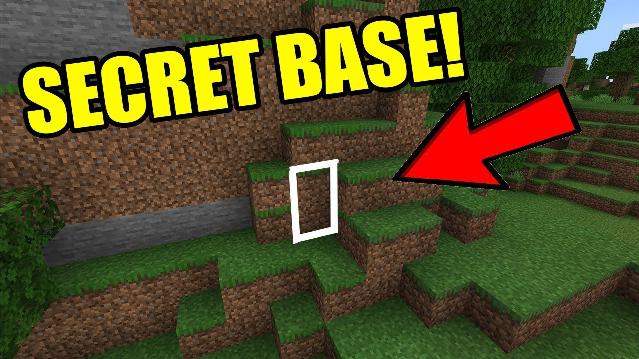 How To Make Secret Base In Mountain On Minecraft Easy Youtube
