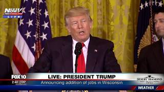 FNN: President Trump Speaks About Foxconn Factory in Wisconsin and New Jobs in America
