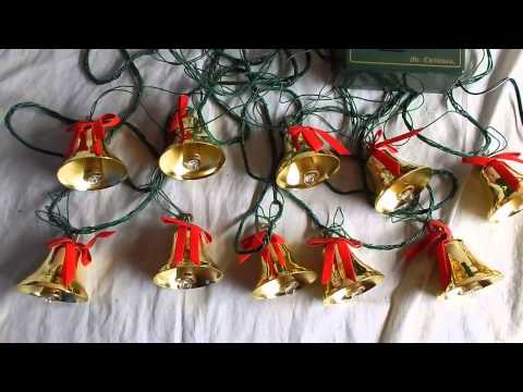 Bells of Christmas, musical lighted tree ornaments