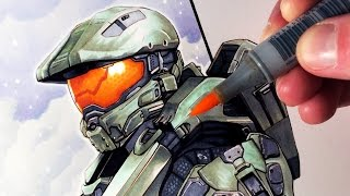 Let&#39;s Draw MASTER CHIEF from HALO - FAN ART FRIDAY<
