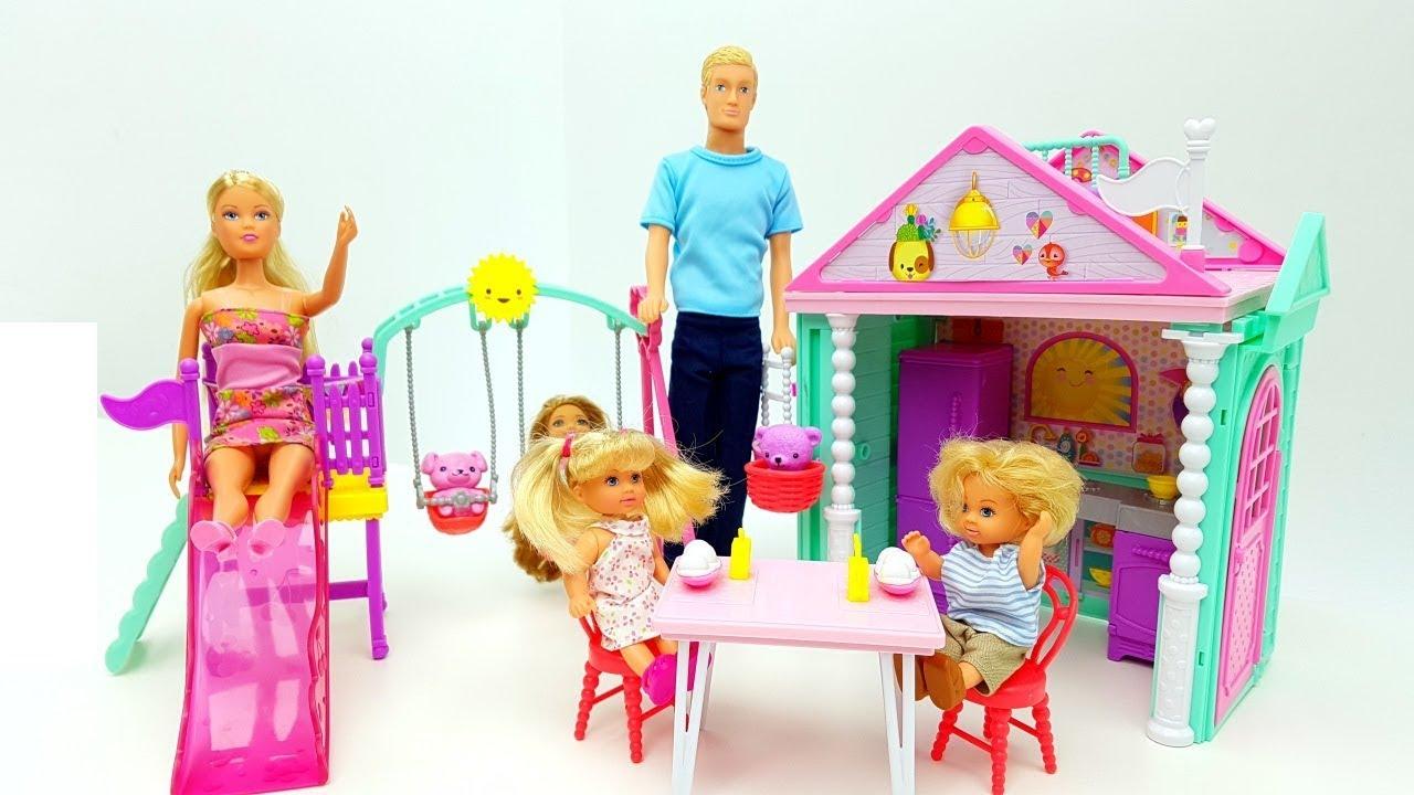 il mondo di barbie giochiamo con le bambole steffy xl