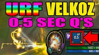 NEW URF VELKOZ 0.5SEC Q's ONE SHOT | League of Legends | URF 2017 | Kobe lol