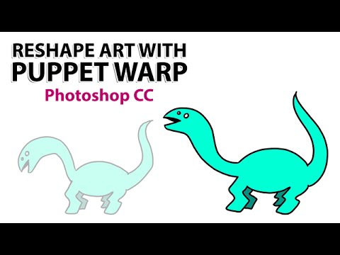 Reshape & Animate Your Art With Puppet Warp (Photoshop CC)