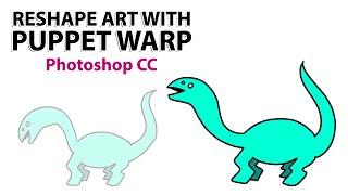 (Photoshop CC)Kukla Warp İle yeniden şekillendirme & Animasyon Sanatını