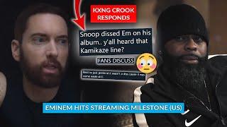 Crook Shuns Claim That Snoop Was Dissing Eminem On New Track, Eminem Hits US Streaming Milestone