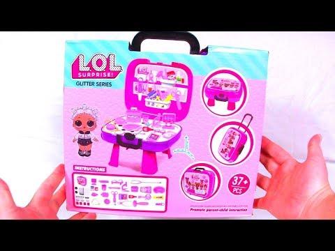 LOL Surprise Unboxing! 45 в 1 Большой чемодан КУКЛЫ ЛОЛ ПОДДЕЛКА Lol РАСПАКОВКА Мультики для детей