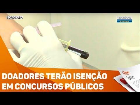 Doadores terão isenção em concursos públicos - TV SOROCABA/SBT