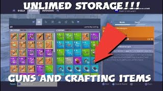 Unlimited Storage Glitch | Guns & Crafting | Fortnite PVE | Patched