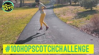 100 HOPSCOTCH CHALLENGE - CHALK GAME - FAMILY FITNESS