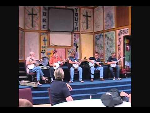 Fireball Mail on five banjos