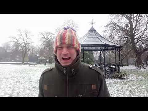 Leedslife TV visit a snowy Pudsey Park Leeds West Yorkshire