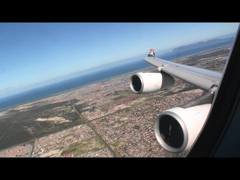 Absolutely Stunning Business Class HD A340-300 Takeoff From Cape Town South Africa!!!