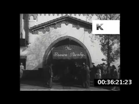 1940s USA, The Brown Derby, Hollywood, Los Angeles