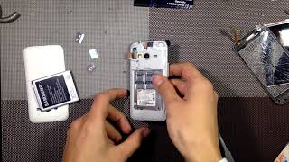Samsung Galaxy Ace 4 Lite SM-G313H (SM-G313F), how to disassemble, replace the LCD & touchscreen.