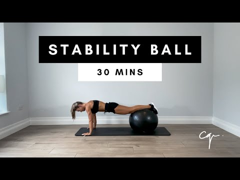 30 Min FULL BODY STABILITY BALL WORKOUT at Home