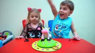 Challenge Un joc amuzant pentru copii Anabella vs Bogdan Anabella Show