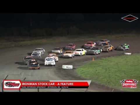 IronMan Stock Car Feature - Park Jefferson Speedway - 8/25/18