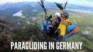 Paragliding Over Neuschwanstein Castle in Germany