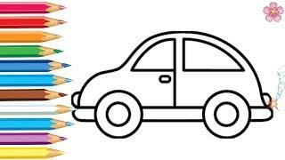 Раскраска - Машинки Мультик 🚗Раскраска для детей Учим цвета