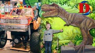 Парк аттракционов для детей. Катаемся на машинке. Динозавры и Развлечения для детей в LAVINA MALL