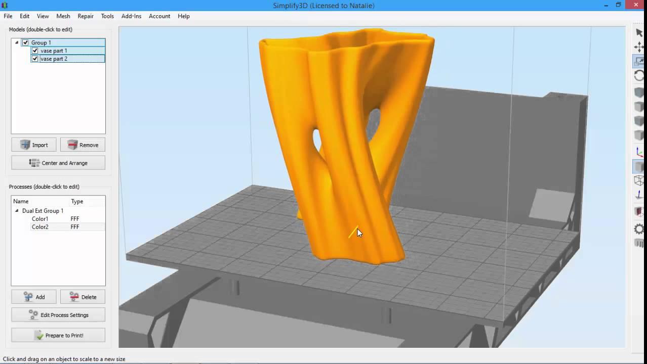 Dual Extrusion Wizard   Simplify3D